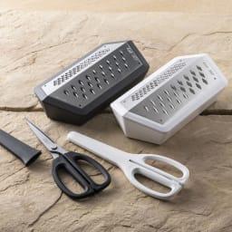 SEBASTIAN CONRAN×貝印 JANUS GRATER/ヤーヌスグレーター おろし器 シリーズ品のキッチンハサミもご用意しております。