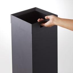 Tower/タワー トラッシュカン 角型ロング ダストボックス 取っ手付きで移動も簡単。お掃除の際もスムーズです