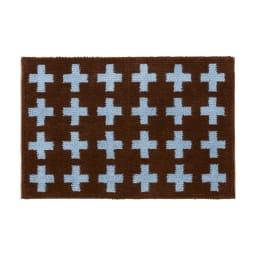 抗菌防臭加工クロス玄関マット 約60×90cm (ア)ブラウン