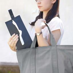 たためる携帯ティッシュケース タワー 広げて使用しても、たたんで使ってもOK