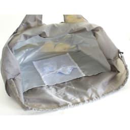保冷保温機能付き! レジかごに入る大容量エコバッグ 保冷剤が入る専用のポケット付き。内生地は保冷・保温機能のある生地を使用しています。