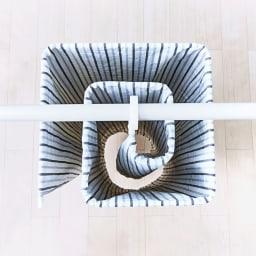 シーツやバスタオルをコンパクトに干せる!スリムくるくる洗濯ハンガー 風通しもよく、乾きやすさに配慮しています。