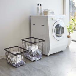 Tower/タワー ランドリーワイヤーバスケット  L 洗濯物の仕分けにもおすすめです。