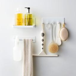 Tower/タワー マグネット バスルームタオルハンガー シリーズ品とのコーディネートでより便利なバスルームに!