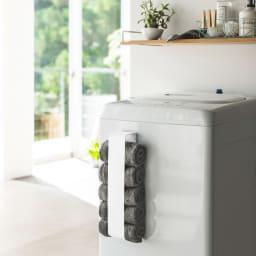 Tower/タワー マグネットタオルホルダー マグネットで洗濯機横へ簡単取り付け。