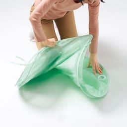 花粉・黄砂にも! 雨よけランドリーテント 畳み方手順