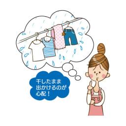 花粉・黄砂にも! 雨よけランドリーテント