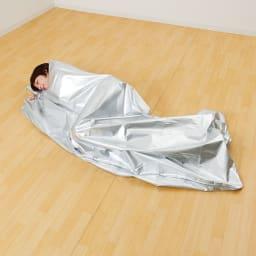 3wayコンパクトアルミ寝袋 屋外で長時間過ごすときや体温維持に。