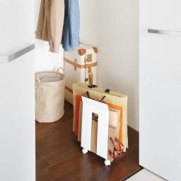 ダンボール&紙袋ストッカー フレーム 置き場所に困る段ボールや紙袋を一括収納。