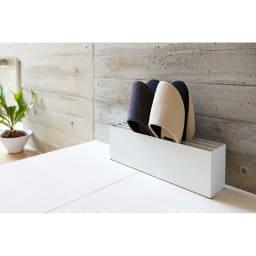 スリッパラック スマート 玄関靴箱横や廊下などに場所をとらずすっきりと置くことができます
