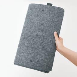 felsto 縦型フェルト リビング収納BOX フェルト製なので、使わないときは小さくたたんで収納できます。