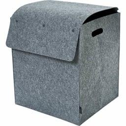 felsto 縦型フェルト リビング収納BOX (ア)グレー L