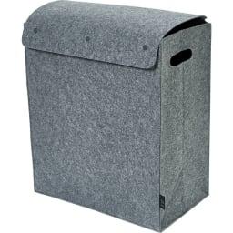 felsto 縦型フェルト リビング収納BOX (ア)グレー M