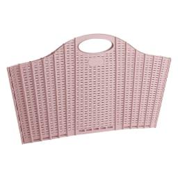 折りたたみバスケット ラタン調 単品 ピンク