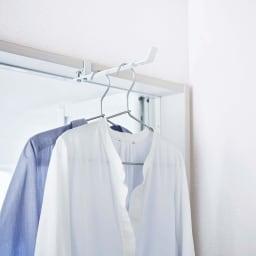 tower/タワー ランドリー室内干しハンガー 浴室前での使用も便利です。