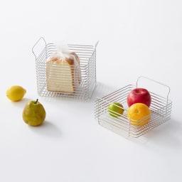 ハナウタ キッチンバスケット 左から 【S】【L】 使用例
