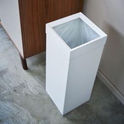 Tower/タワー トラッシュカン 角型ロング ダストボックス 高級感があるつや消しのスチール製でインテリアにもなじみやすい、おしゃれなゴミ箱です。