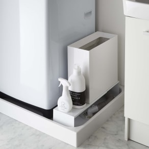 Tower/タワー 伸縮洗濯機排水口上隙間ラック 写真