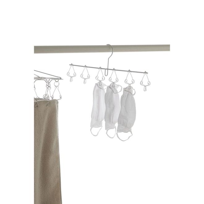家事問屋 ピンチハンガー 6ピンチ マスクや靴下などの小物を省スペースで干せます