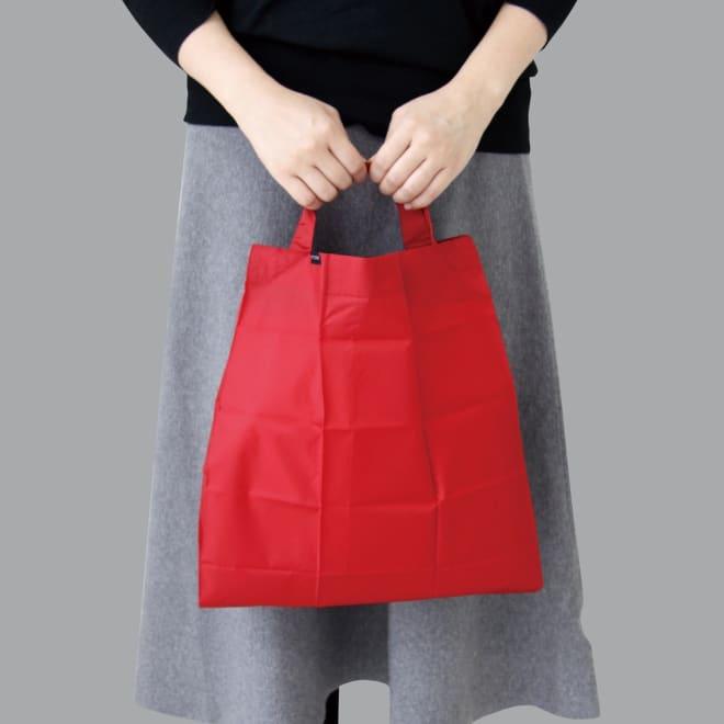 ハンカチサイズにたためるエコバッグ! ポケットスクエアバッグ ワイド  ちょっとしたお買い物にも大活躍の容量です。
