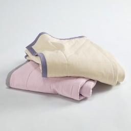 西川×ディノス クールコットン寝具シリーズ 肌掛けケット ダブル 上:アイボリー ※ダブルサイズはアイボリーのみ。