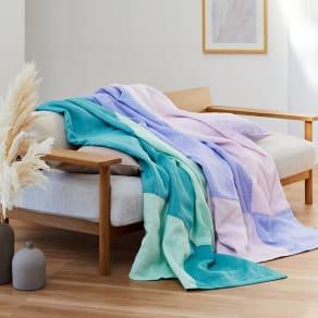季ノ布 ふわり軽やか 初夏の彩り 洗える麻肌掛けふとん シングルサイズ 写真