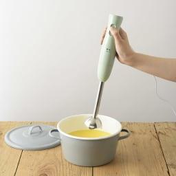 BRUNO/ブルーノ マルチスティックブレンダー お鍋に直接使えるので洗い物が少なく済むのも嬉しいポイント。