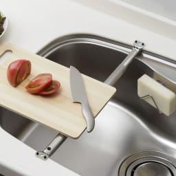 家事問屋 まな板受け 伸ばしてシンクに渡すだけ!スペースを有効活用できます。