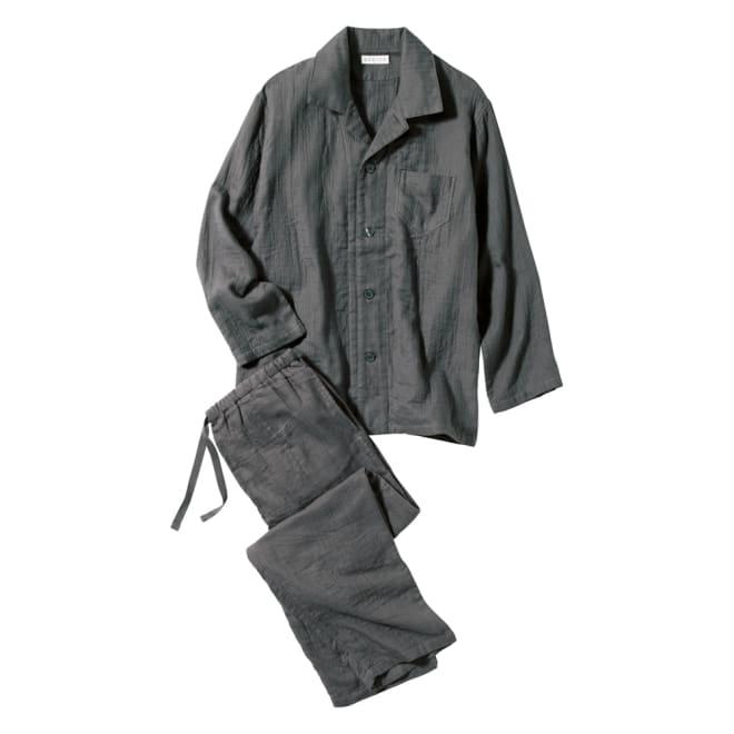 マシュマロガーゼ メンズパジャマ ふわふわな着心地をぜひ。プレゼントにも〇 (イ)ダークグレー