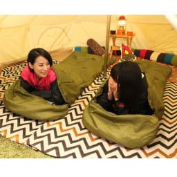 クッション型多機能寝袋SONAENO キャンプ時にも使える ※寒冷地・冬季屋外の使用は想定していません