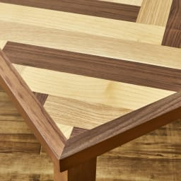 【長方形】ヘリンボーン柄こたつテーブル幅120cm 奥行80cm 〈ウエイブ〉 (イ)ミックス