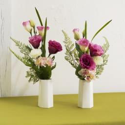 メモリアルアーティフィシャルブーケ ピンク&ホワイト 花器に入れてご自宅の仏壇に、また墓前に!