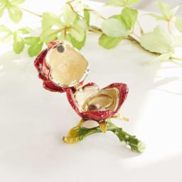 ジュエリーケース バラ 中にリング等入れることができます ※小物は商品に含まれません