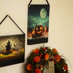 ハロウィン ウォールアート 3柄セット ※キャンドル部分&かぼちゃ目の中が光ります