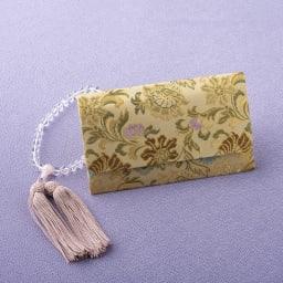 西陣織の念珠袋 (イ)白茶天平唐花