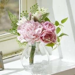 PRIMAメルシーブーケ ピンク系 束ねた状態でラッピングしてあるので外してそのまま花瓶に活けてお楽しみいただけます