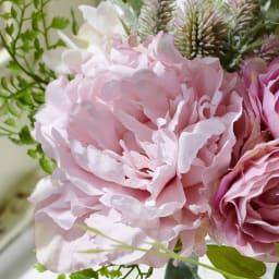 PRIMAメルシーブーケ ピンク系 その花材が一番きれいな状態でずっと楽しめるのがアーティフィシャルフラワーの特徴です