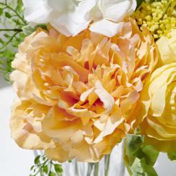 PRIMAメルシーブーケ イエローオレンジ系 柔らかいオレンジ色の大輪のピオニー