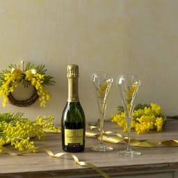 ジョセフペリエハーフボトル グラス2客付ミモザスペシャルセット お祝いにふさわしいギフトセットです