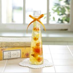 ローズとカーネーションのハーバリウム (イ)オレンジ系