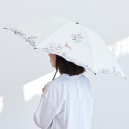 晴雨兼用 二重張り折り畳み日傘 芙蓉 少しずつ強くなる陽ざしに!またとっさの雨にも対応できる晴雨兼用の美しい日傘です