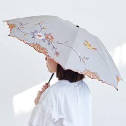 晴雨兼用 二重張り折り畳みミニ日傘 ハチドリ コンパクトで持ち運びは便利ながらしっかりお顔は隠す大きさ (イ)色