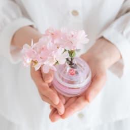 津軽びいどろ花瓶と季節の花を楽しむセット コンパクトなので、玄関だけでなく、キッチンやちょっとしたスペースに!