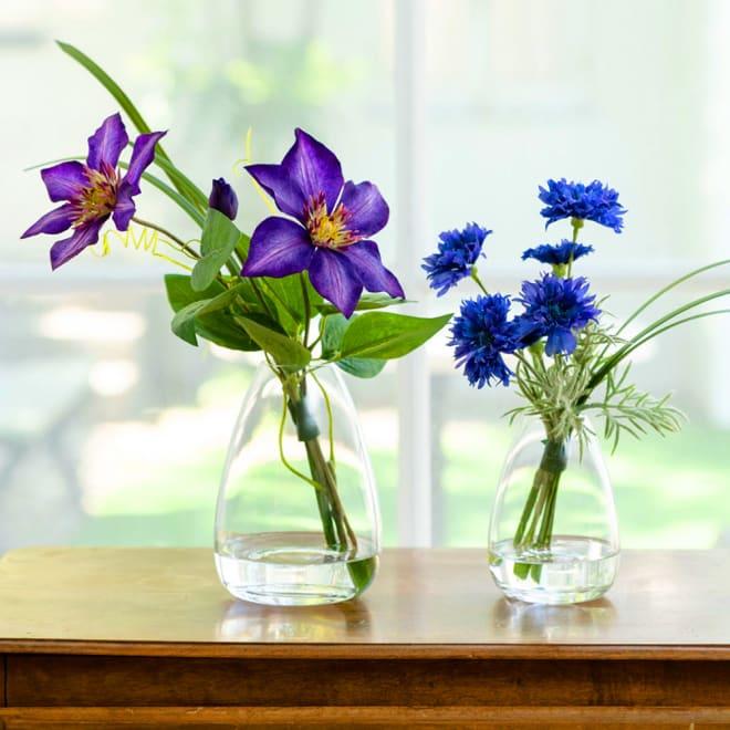 マジックウォーターアレンジ2種セット お手入れ簡単なアーティフィシャルフラワーの花瓶活けアレンジ2種セット