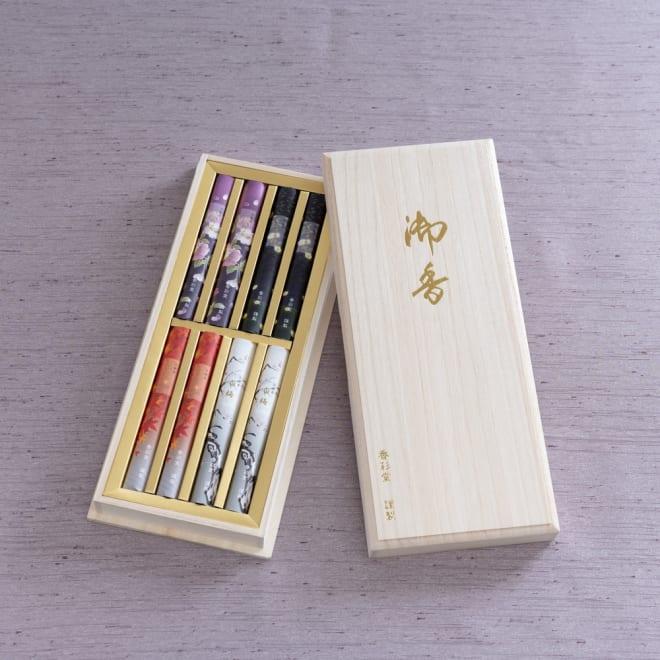香彩堂 四季の京線香 四季をイメージした香りのお線香。桐箱入りでご進物用としてもおススメです。