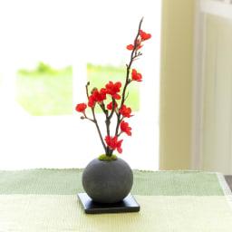 CUPBON 檜炭ボール 梅 アーティフィシャルの梅が映える和モダンな盆栽シリーズ
