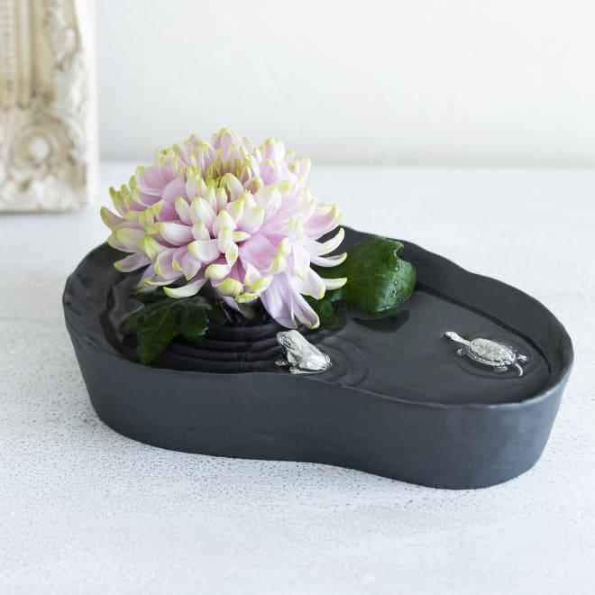 雫影(しずか)かたかごセット カスタマイズも楽しい小さな水盤 ※花は撮影小物で商品に付属しません