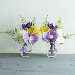 PRIMA(プリマ)供花 マジックウォーター入り胡蝶蘭 パープル系 パープル系の胡蝶蘭を使用したアーティフィシャルの供花