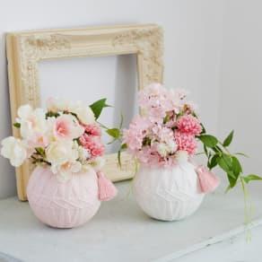 桜の手まりアレンジメント 写真