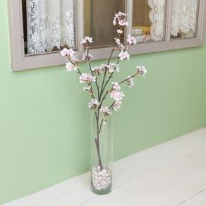 アーティフィシャルフラワー桜と花瓶のセッ 写真